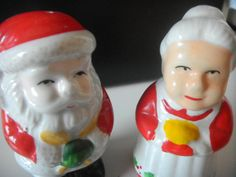 Just in time for Christmas!    Santa and Mrs. Clause Salt and Pepper Shakers!    Perfect item to complete your Christmas Table Scape!