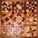 Geo Shape Wood Quilt Design