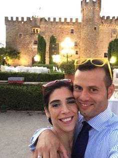Juan Pedro y Esther desde el Castillo de la Arguijuela, cerca de la ciudad de Cáceres.