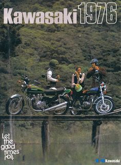 Kawasaki Motorcycle Ad Yep, had one in blue. Motos Kawasaki, Kawasaki Motorcycles, Kawasaki 900, Cars Motorcycles, Motorcycle Posters, Retro Motorcycle, Classic Motorcycle, Retro Bike, Vintage Bikes