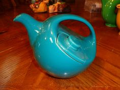 RARE Hall Bowling Ball Teapot Turquoise and Excellent | eBay
