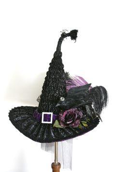 Black Raven Victorian Witch Hat by Studio Sisu Hand by StudioSisu