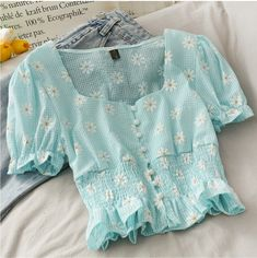 Girls Fashion Clothes, Teen Fashion Outfits, Girly Outfits, Cute Casual Outfits, Pretty Outfits, Stylish Outfits, Cute Blouses, Mode Hijab, Aesthetic Clothes