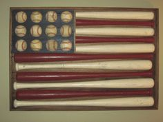 baseball bats and baseball=American flag... love it!