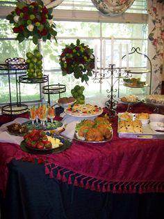 "The ""high tea"" buffet table at our Phantom party"
