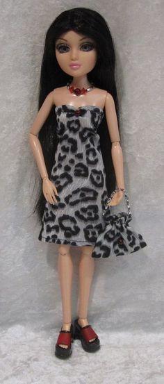 """Clothes for 14"""" MOXIE TEENZ Dolls #13 Handmade Dress, Beaded Necklace & Purse #HandmadebyESCHdesigns"""