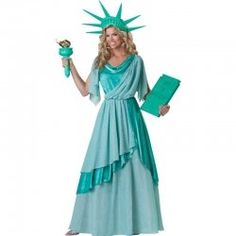 Statue of Liberty Halloween Costumes. Dress up as the Statue of Liberty for Halloween or the fourth of July. The best Statue of Liberty Halloween costumes. Patriotic Costumes, Holiday Costumes, Adult Costumes, Costumes For Women, Halloween Costumes, Crazy Costumes, Awesome Costumes, Funny Costumes, Diy Costumes