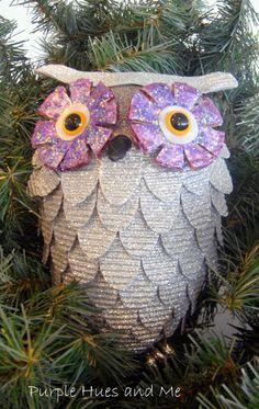 DIY - Glitzy Christmas Owl Tutorial