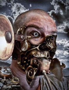 Mammal selfportrait by foxeye  7th place entry in Steampunk: Nature