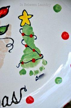 Hand/Foot print art for Christmas