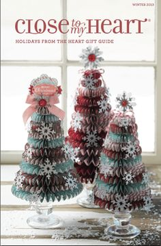 [Video]How to Make Rosette Christmas Trees – Close to My Heart Holiday Gift Guide cover – Obsessed with Scrapbooking Christmas Paper Crafts, Christmas Projects, Christmas Tree Ornaments, Christmas Decorations, Paper Ornaments, Christmas Centerpieces, Xmas Tree, Christmas Stocking, How To Make Rosettes