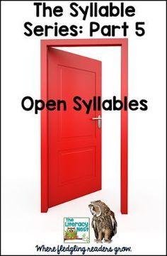 Syllable Series: Part 5 Open - Teaching Ideas and activities for open syllables