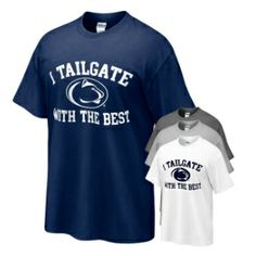 Penn State Tailgate with the Best T-shirt, blue small