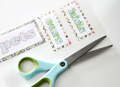 IHeart Organizing: Labeling 101: Print  Laminate Great for bathrooms, kid's rooms, and even pantries