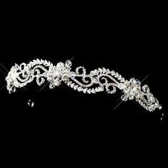 Bridal headband Wedding headband Rhinestone by TheExquisiteBride, $83.00