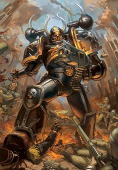 """The Black Legion generally favours close combat over ranged firefights, and Horus' tactic of """"ripping the throat out of the enemy"""", the annihilation of the enemy's command apparatus through the use of a small force referred to as the """"speartip"""", is still a favoured method of attack. Black Legion commanders seek to apply constant pressure on the enemy in a number of lightning fast strikes."""