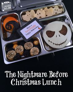 Learn to make The Nightmare Before Christmas Bento Lunch