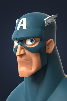 from Captain America Concept Art: Randy Bishop You can find the Zbrush Timelapse on my. Character Modeling, Game Character, Character Concept, Concept Art, Hq Marvel, Marvel Heroes, Marvel Characters, Cartoon Characters, 3d Cartoon