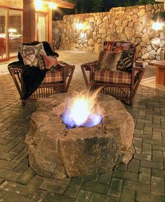 and when in doubt, there's always a place to cuddle out by the fire pit.
