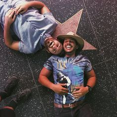 Sometimes you just need to lay on the ground with your best friend to take cute pics New vid up! Link in bio Kristen Mcatee, Zane And Heath, Heath Hussar, Jason Nash, Scotty Sire, Youtube Vines, Positive Books, Vlog Squad, People Videos