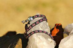 Leather+wrap+bracelet+by+CraftHoundllc+on+Etsy,+$25.00