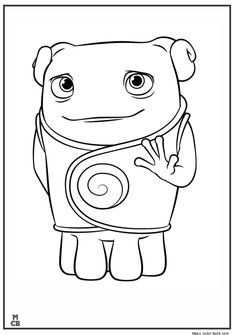 Oh is a lovely Boov who befriends with Tip. Another beautiful Home movie coloring sheet. Just print it out and enjoy! Oh is a lovely Boov who befriends with Tip. Another beautiful Home movie coloring sheet. Just print it out and enjoy! Online Coloring Pages, Disney Coloring Pages, Free Printable Coloring Pages, Coloring Book Pages, Coloring Sheets For Kids, Home Movies, Disney Art, Drawings, Prints