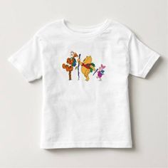 (Piglet Tigger and Winnie the Pooh Hiking Toddler T-shirt) #Bear #Childrens #Disney #Friends #Hiking #Piglet #Tigger #Walking #WalkingSticks #WinnieThePooh is available on Famous Characters Store http://ift.tt/2dyfqaR