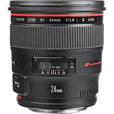 The Canon EF 24mm f/1.4L II USM Lens lens is a venerable wide-angle prime lens that provides sharpness and impressive performance at all settings. Its large maximum aperture of f/1.4 allows for superb low-light photographs, and its circular aperture and narrow depth of field provide pleasing background blur. It is the ideal tool for photojournalists, landscape and event photographers, and anyone who enjoys taking images from a wider perspective.