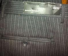 Banana Republic Charcoal Gray Pinstriped Dress Pants NWT retail $98 sz 38 X 32 SOLD $25