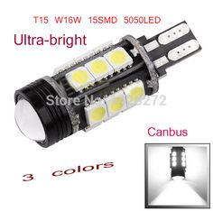 2ชิ้นซีนอนขาวC An Busข้อผิดพลาดฟรีE Mitte LED T15 921 912 W16W LEDไฟย้อนกลับB Ackupที่จอดรถโคมไฟ360 5050SMDรถLed