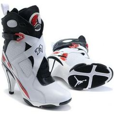 http://www.asneakers4u.com/ Air Jordan 8 High Heels White Red Black