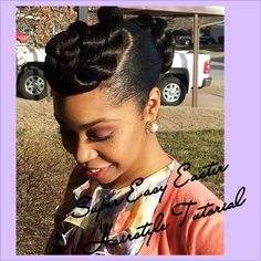 #22. Super Easy Easter Hairstyle Tutorial (Natural Hair, Transitioning Hair, Relaxed Hair)