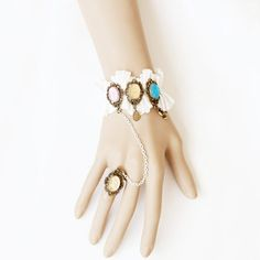 Color classification: pink, champagne, blue diamond    Brand: Evil Lamour    Applicable people: female    Shape/design: other shape/design    Style: / palace restoring ancient ways    Setting: alloy insert artificial gems/semi-precious stones    Colour: brand new    Size: bracelet width is about ...