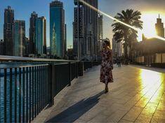 Hanging around Burj Khalifa and singing fountain. What an evening! Top Place, Burj Khalifa, Fountain, Dubai, Singing, Sunset, Places, Water Fountains, Sunsets