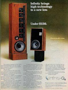 Post a pic for memory lane's sake. Hifi Music System, Audio System, High End Speakers, High End Audio, Audiophile Speakers, Audio Speakers, Infinity Reference, Speaker Design, Loudspeaker