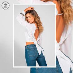 Escotes profundos en espaldas para realzar tu sensualidad un día especial. Haz clic en la imagen y compra online>>> Vestidos, Pants, Blouses, Unique Clothing, Athletic Wear, Plunging Neckline, Shirts, Feminine Fashion, Women