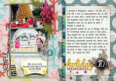 Love all the bright and happy colors in this Dec Daily album!