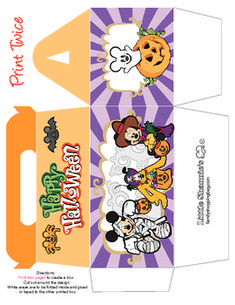 free Printable Small Trick or Treat Gift Box