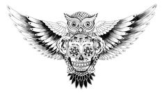 - For Barry - owl sugar skull chest tattoo! I'm in LOVE! -Owl&Skull - For Barry - owl sugar skull chest tattoo! I'm in LOVE! - Coruja - - - Tattoo Geometric Owl Birds Ideas This is extremely cool! Sugar Skull Owl, Sugar Skull Tattoos, Sugar Tattoo, Trendy Tattoos, New Tattoos, Wing Tattoos, Tatoos, Celtic Tattoos, Skull Tattoo Design