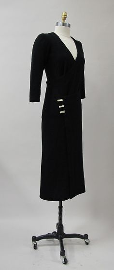 """Taxi"", Charles James, ca. 1932, wool, synthetic."