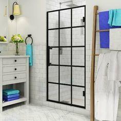 Aston French Durance x Frameless Fixed Glass Panel Bathtub Doors, Frameless Shower Doors, Bathtub Shower, Glass Shower Doors, Narrow French Doors, French Doors Patio, Bathroom Niche, Bathroom Ideas, Master Bathroom