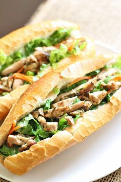 chicken soulvaki bahn mi - dang that's delicious