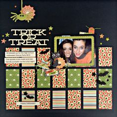 Trick or Treat - Scrapbook.com- out of a large paper pad? These cute squares were cut from the Witches brew 6x6 paper pad. Clever and adorable!