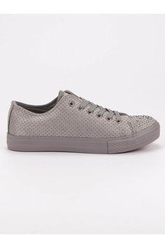 Sivé tenisky s kryštálikmi Sport Converse, Sneakers, Shoes, Fashion, Tennis, Moda, Slippers, Zapatos, Shoes Outlet
