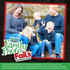 Have you entered our Family Photo Fails sweeps yet?! The grand prize is a $1,000 gift card and a 1-month supply of Tum-E Yummies! Check out our pinned post on Facebook for all the details.