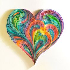 heart, colours, and love image