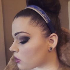 Blue lace headband by CloudofJudgement on Etsy