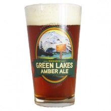 Green Lakes Amber Ale 16 oz. pint glass. [$4] #craftbeer