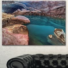 DESIGN ART Designart 'Beautiful Melt Pool' Landscape Artwork Canvas Print