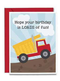 Birthday Card- Dump Truck